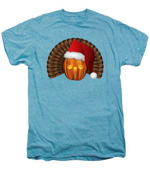 Hallowgivingmas Santa Turkey Pumpkin Men's Premium T-Shirt