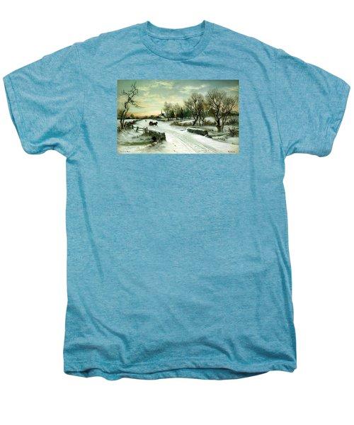 Happy Holidays Men's Premium T-Shirt by Travel Pics