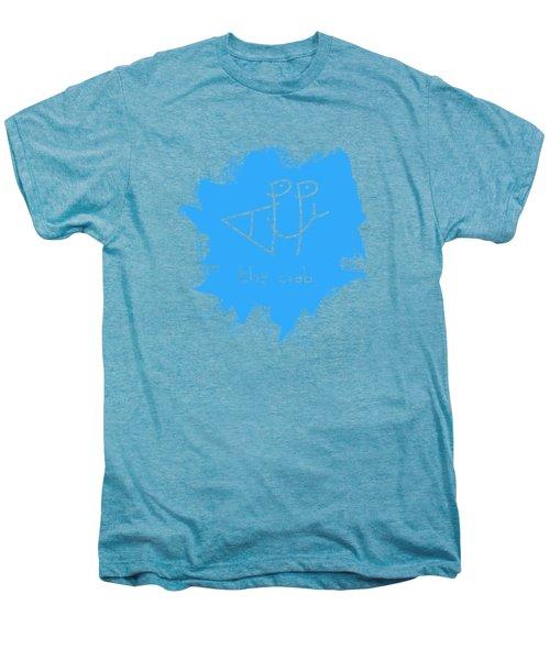 Happy The Crab - Blue Men's Premium T-Shirt
