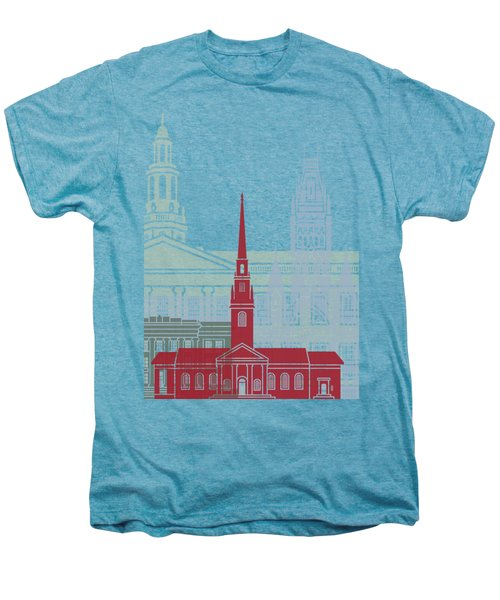Harvard Skyline Poster Men's Premium T-Shirt