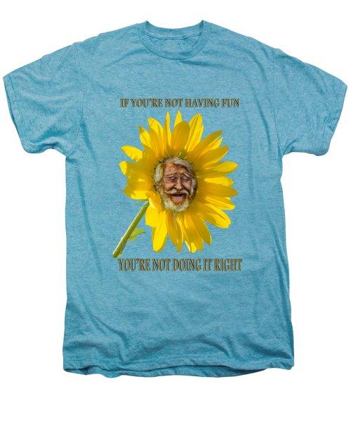 Having Fun Men's Premium T-Shirt by Rick Mosher