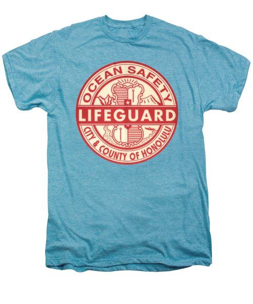 Hawaii Lifeguard Logo Men's Premium T-Shirt