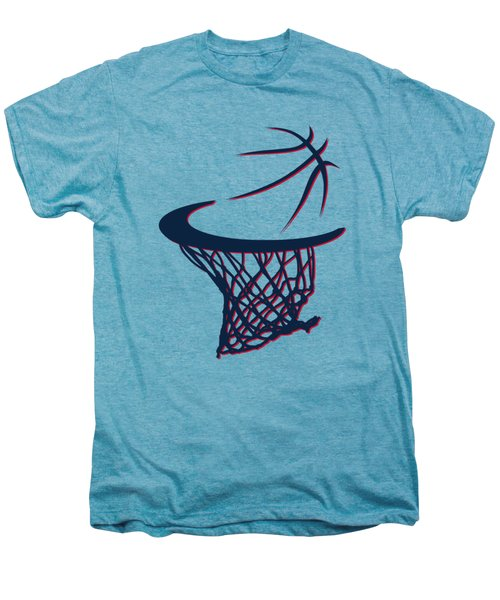Hawks Basketball Hoop Men's Premium T-Shirt by Joe Hamilton