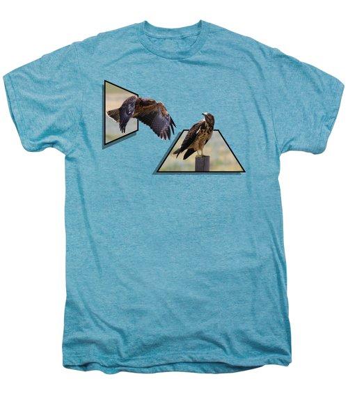 Hawks Men's Premium T-Shirt by Shane Bechler