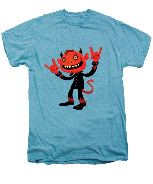 Heavy Metal Devil Men's Premium T-Shirt by John Schwegel