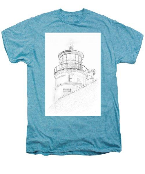 Hecitia Head Lighthouse Sketch Men's Premium T-Shirt