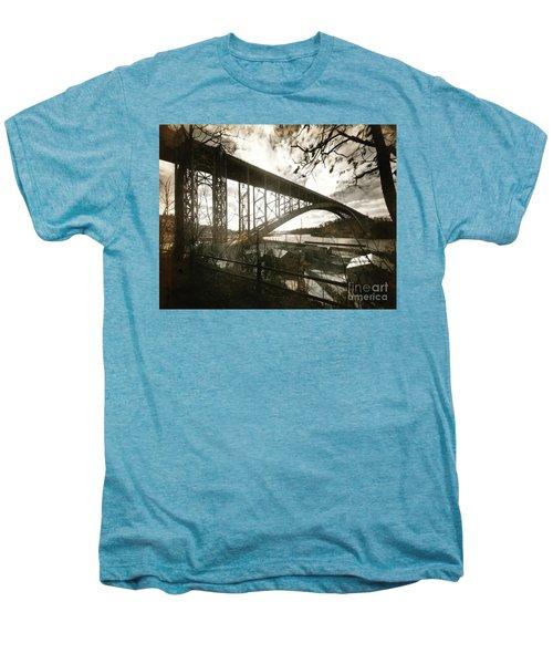 Henry Hudson Bridge, 1936 Men's Premium T-Shirt by Cole Thompson