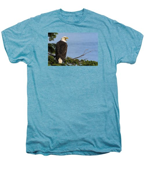 Men's Premium T-Shirt featuring the photograph Hey by Gary Lengyel