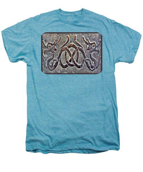 Hidden Dragon Men's Premium T-Shirt by Ethna Gillespie