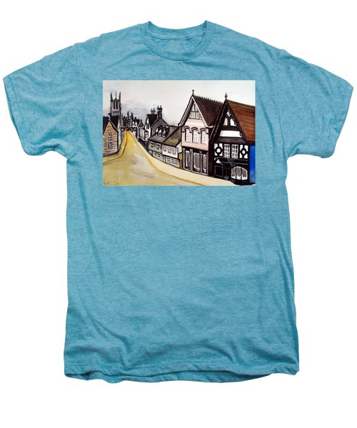 High Street Of Stamford In England Men's Premium T-Shirt by Dora Hathazi Mendes