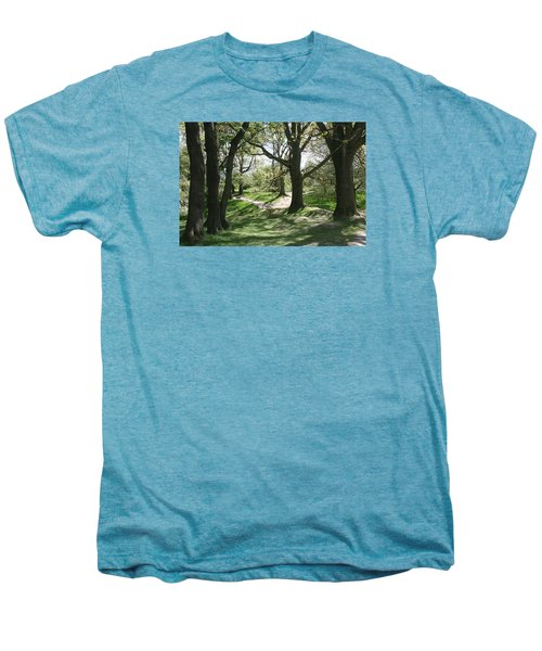 Men's Premium T-Shirt featuring the photograph Hill 60 Cratered Landscape by Travel Pics