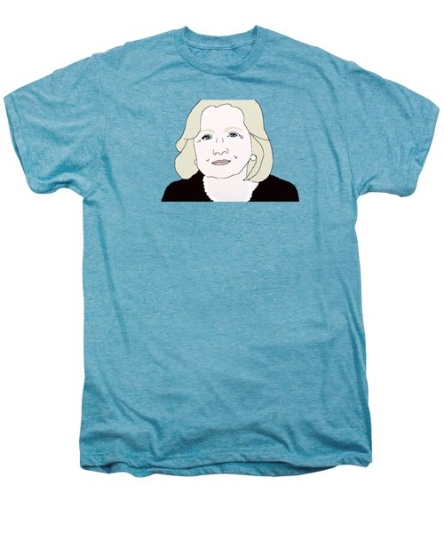 Hillary Clinton Men's Premium T-Shirt by Priscilla Wolfe