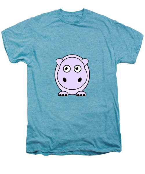 Hippo - Animals - Art For Kids Men's Premium T-Shirt