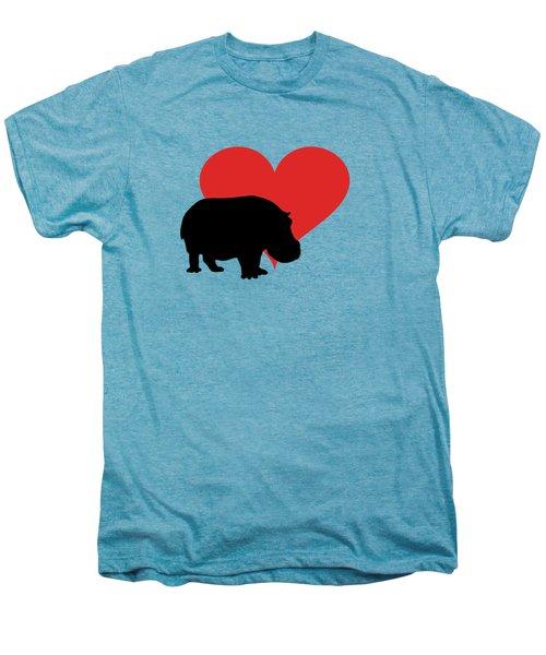 Hippopotamus Men's Premium T-Shirt by Mordax Furittus