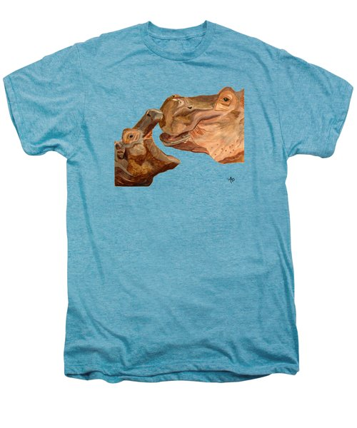 Hippos Men's Premium T-Shirt by Angeles M Pomata
