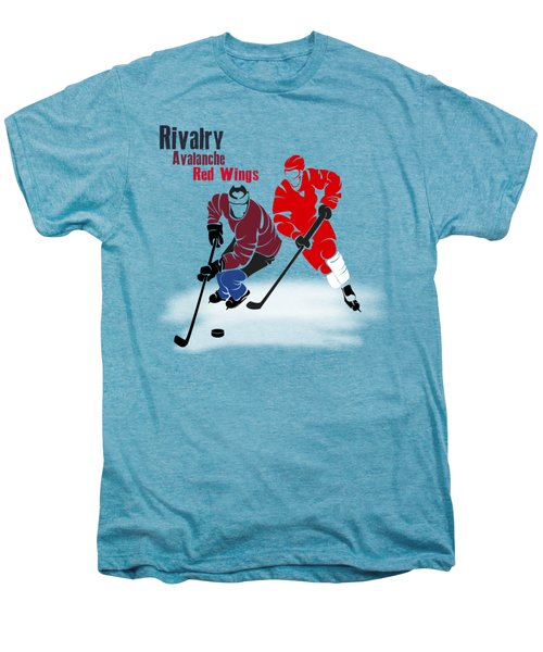 Hockey Rivalry Avalanche Red Wings Shirt Men's Premium T-Shirt by Joe Hamilton