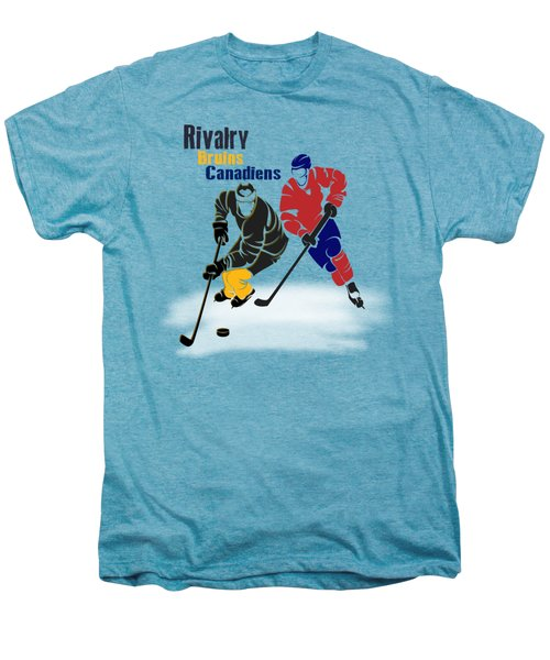 Hockey Rivalry Bruins Canadiens Shirt Men's Premium T-Shirt by Joe Hamilton