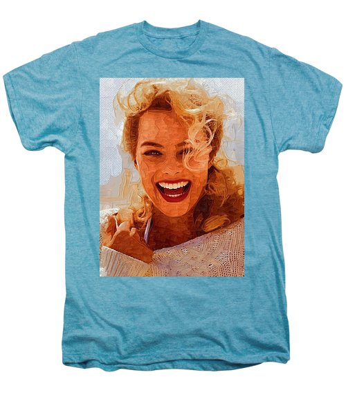 Hollywood Star Margot Robbie Men's Premium T-Shirt