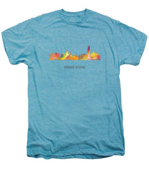 Hong Kong China Skyline Men's Premium T-Shirt by Marlene Watson