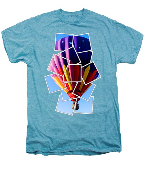 Hot Air Ballooning Tee Men's Premium T-Shirt by Edward Fielding