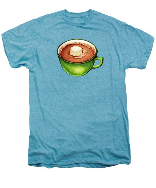 Hot Cocoa Pattern Men's Premium T-Shirt by Kelly Gilleran