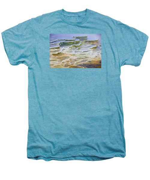 Men's Premium T-Shirt featuring the photograph Hot Springs Runoff by Gary Lengyel