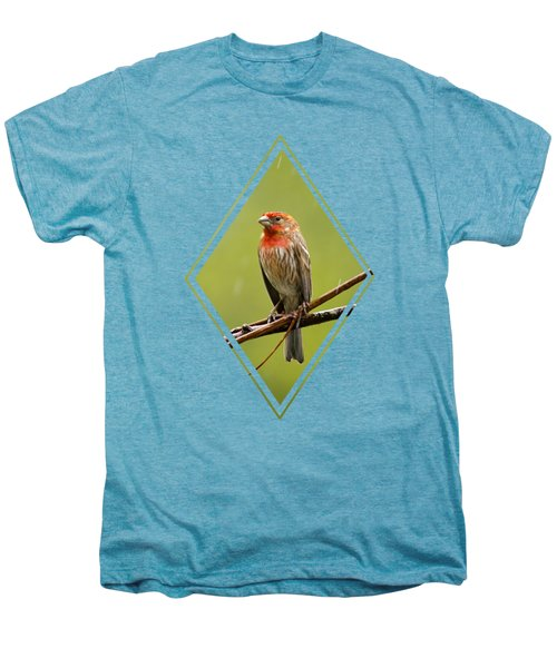 House Finch In The Rain Men's Premium T-Shirt by Christina Rollo