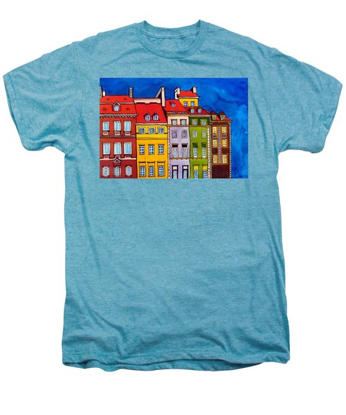 Houses In The Oldtown Of Warsaw Men's Premium T-Shirt by Dora Hathazi Mendes