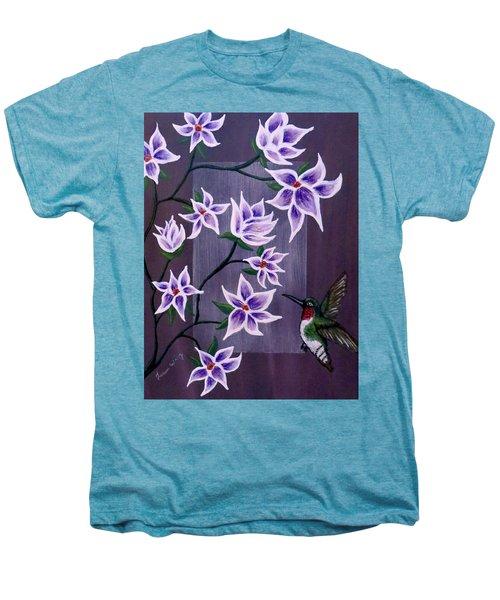 Hummingbird Delight Men's Premium T-Shirt by Teresa Wing