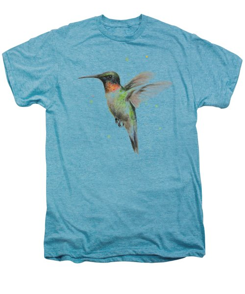Hummingbird Men's Premium T-Shirt by Olga Shvartsur