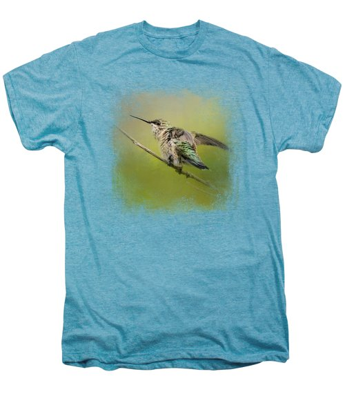 Hummingbird On Lime Men's Premium T-Shirt