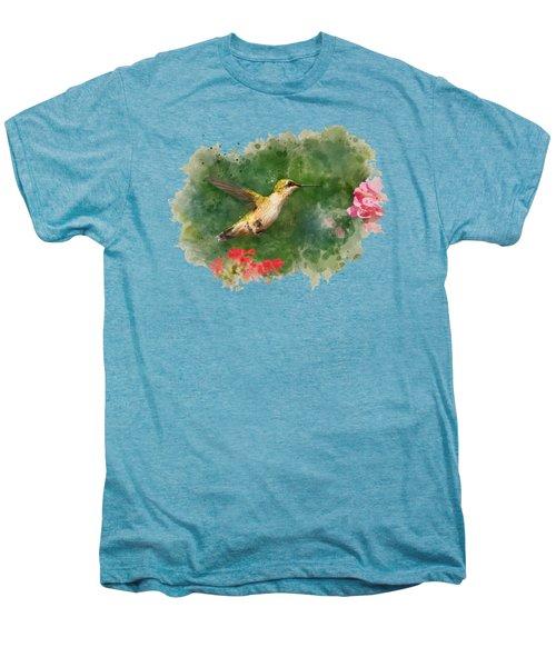 Hummingbird - Watercolor Art Men's Premium T-Shirt