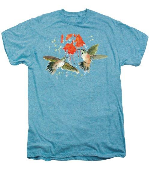 Hummingbird Watercolor Men's Premium T-Shirt