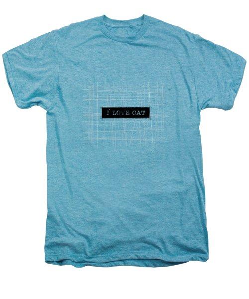 I Love Cat Word Art Men's Premium T-Shirt by Kathleen Wong