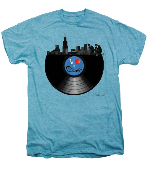 I Love Chicago Men's Premium T-Shirt by Glenn Holbrook