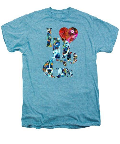 I Love Dogs By Sharon Cummings Men's Premium T-Shirt