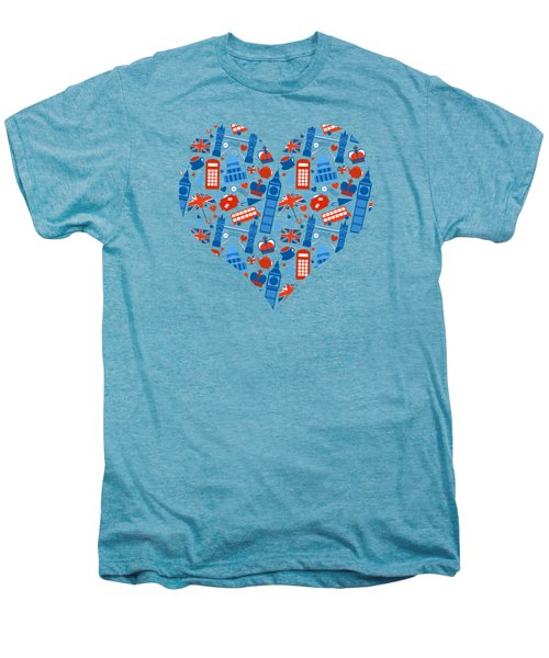 I Love England A Pattern For Anglophiles Men's Premium T-Shirt