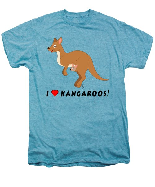 I Love Kangaroos Men's Premium T-Shirt by A
