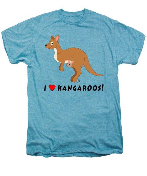 I Love Kangaroos Men's Premium T-Shirt