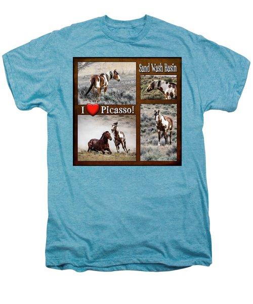 I Love Picasso Collage Men's Premium T-Shirt