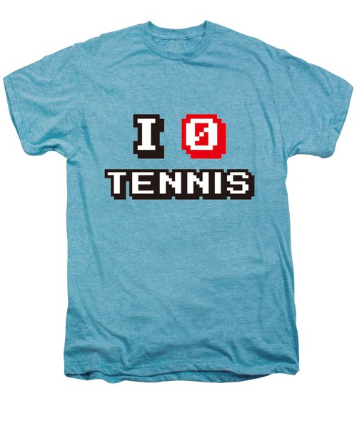 I Love Tennis Men's Premium T-Shirt by Pillo Wsoisi