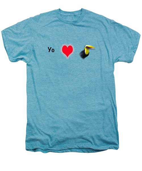 I Love Toucans Men's Premium T-Shirt by Paul  Gerace