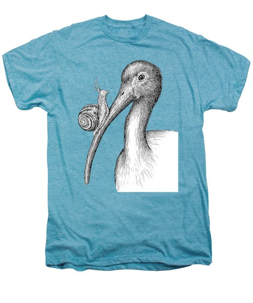 Ibis With Snail Men's Premium T-Shirt