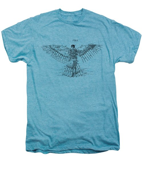 Icarus Human Flight Patent Artwork - Vintage Men's Premium T-Shirt