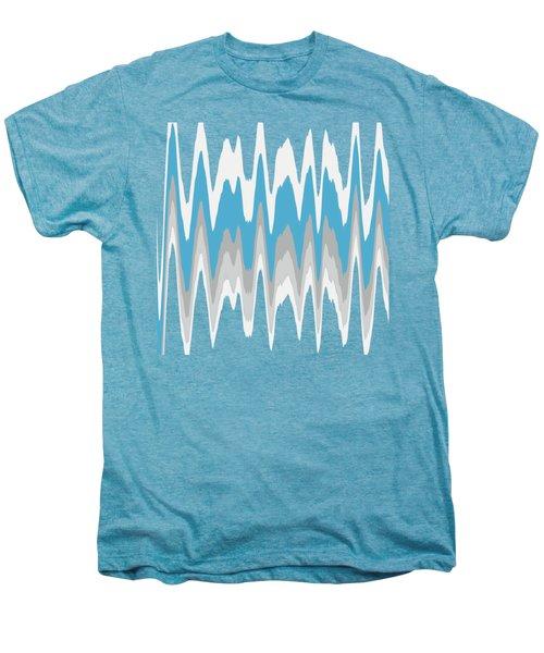 Ice Blue Abstract Men's Premium T-Shirt