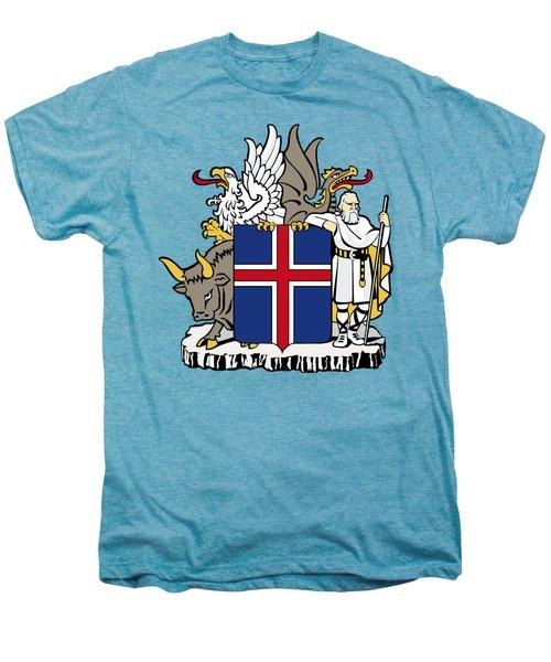 Iceland Coat Of Arms Men's Premium T-Shirt