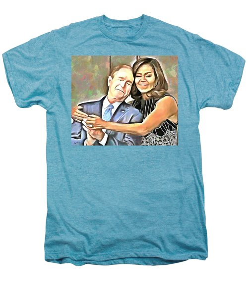 Imagine All The People Men's Premium T-Shirt by Wayne Pascall