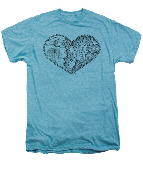 Repaired Heart Men's Premium T-Shirt by Ana V Ramirez
