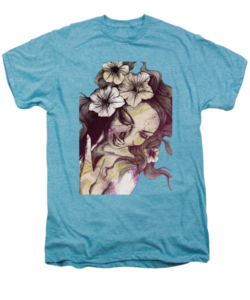 In The Year Of Our Lord - Wine - Smiling Lady With Petunias Men's Premium T-Shirt