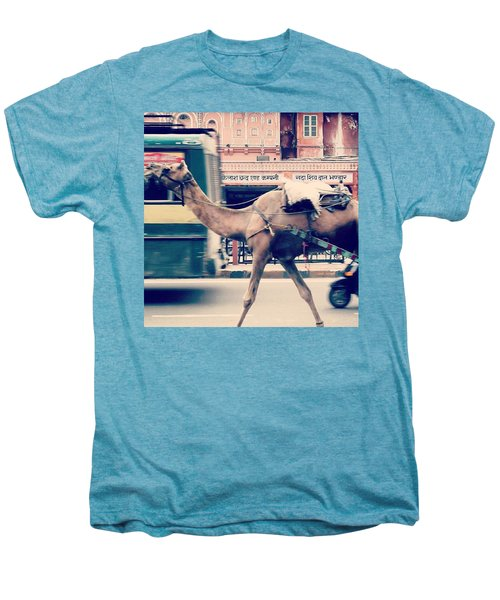 India - Where Even The Camels Overtake Men's Premium T-Shirt